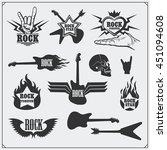 rock'n'roll music symbols ...