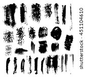 set of grunge dry brush  line ... | Shutterstock .eps vector #451104610
