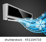 air conditioner blows ice cool... | Shutterstock .eps vector #451104733