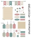 vector stickers  price tag ... | Shutterstock .eps vector #451107283