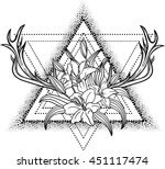 lily flower isolated over white.... | Shutterstock .eps vector #451117474