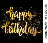 happy birthday hand lettering ... | Shutterstock .eps vector #451127020