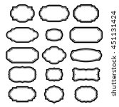 black frames set for pictures.... | Shutterstock .eps vector #451131424