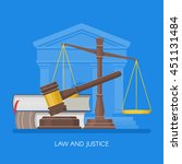 law and justice concept vector... | Shutterstock .eps vector #451131484