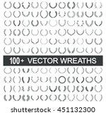 wreath vector frame  | Shutterstock .eps vector #451132300