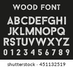 wooden alphabet with letters... | Shutterstock .eps vector #451132519