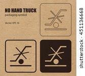 no hand truck vector packaging... | Shutterstock .eps vector #451136668