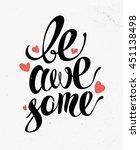 hand written text message... | Shutterstock . vector #451138498