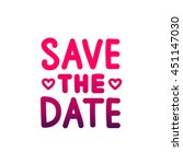 quote save the date. the trend... | Shutterstock .eps vector #451147030