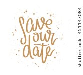 quote save our date. the trend... | Shutterstock .eps vector #451147084