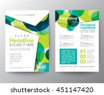 abstract colorful green circles ... | Shutterstock .eps vector #451147420