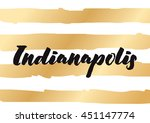 indianapolis typography... | Shutterstock .eps vector #451147774