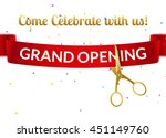 grand opening design template... | Shutterstock .eps vector #451149760