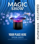 magic show poster design... | Shutterstock .eps vector #451149850