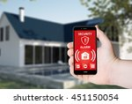 hand hold a phone with security ... | Shutterstock . vector #451150054
