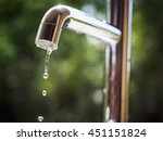 Water Tap With Water Drop...