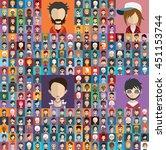 large set of diferent avatars 2 | Shutterstock .eps vector #451153744