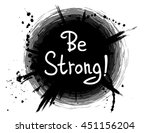 be strong  . vector... | Shutterstock .eps vector #451156204