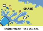 share sharing networking social ... | Shutterstock . vector #451158526