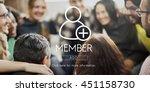 add friends community...   Shutterstock . vector #451158730