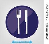 fork knife icon vector...   Shutterstock .eps vector #451160140