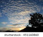 Small photo of Altocumulus cloud in blue sky