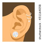 ear to silent mode icon... | Shutterstock .eps vector #451164058