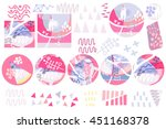 vector set of abstract graphic... | Shutterstock .eps vector #451168378