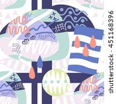 vector graphic pattern of... | Shutterstock .eps vector #451168396