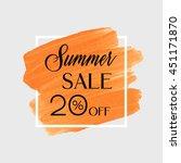 summer sale 20  off sign over... | Shutterstock .eps vector #451171870