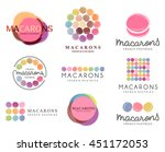 set of vector logo macaron for... | Shutterstock .eps vector #451172053