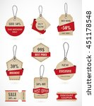 vector stickers  price tag ... | Shutterstock .eps vector #451178548
