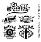 motorcycle rock themed badge.... | Shutterstock . vector #451178884