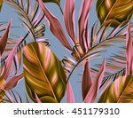 seamless tropical flower  plant ... | Shutterstock . vector #451179310