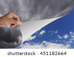 hand pick and pull paper or... | Shutterstock . vector #451182664