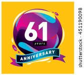61th years greeting card... | Shutterstock .eps vector #451190098