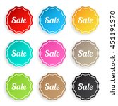 set of sale badges | Shutterstock .eps vector #451191370