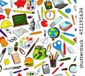 colorful school  pattern.... | Shutterstock .eps vector #451191634