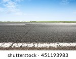 asphalt road closeup with blue... | Shutterstock . vector #451193983