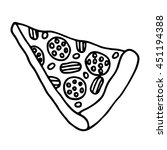 pizza icon. outlined on white... | Shutterstock .eps vector #451194388