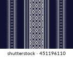 geometric ethnic pattern design ... | Shutterstock .eps vector #451196110