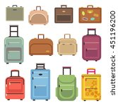 travel luggage and set of... | Shutterstock .eps vector #451196200