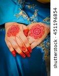 bride henna carved beautiful...   Shutterstock . vector #451196854