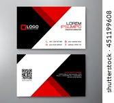 modern business card design... | Shutterstock .eps vector #451199608