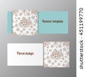 horizontal banner template... | Shutterstock .eps vector #451199770