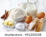 ingredients for baking cake | Shutterstock . vector #451203238