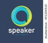 abstract speak logo | Shutterstock .eps vector #451204510