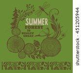 summer forest illustration....   Shutterstock .eps vector #451205944