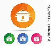 boil 6 minutes. cooking pan... | Shutterstock .eps vector #451207450