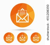 mail envelope icons. message... | Shutterstock .eps vector #451208350